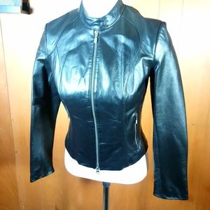 Danier Jackets & Coats - DANIER LEATHER MOTO JACKET SIZE-P SMALL